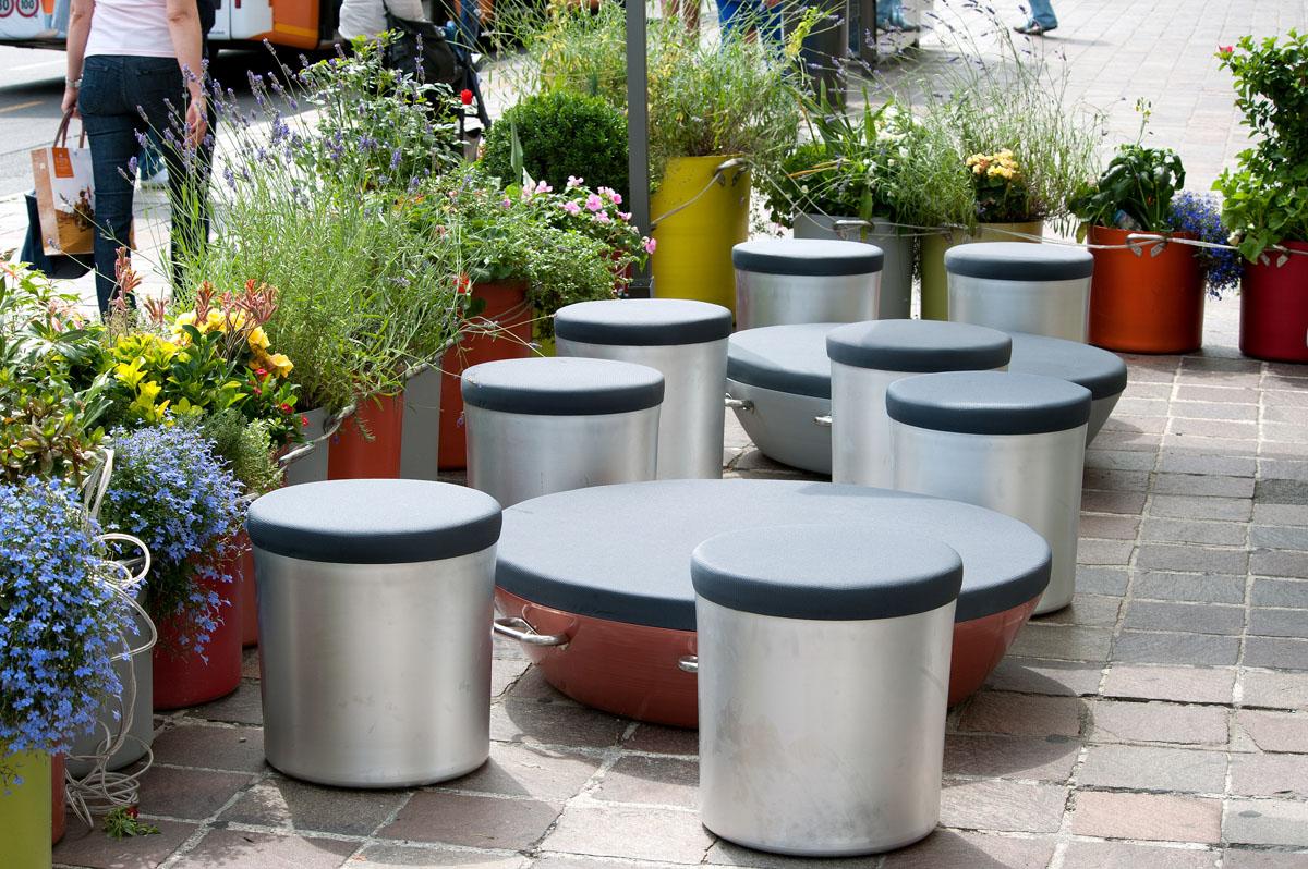 Alluminio per un arredo urbano di alto design