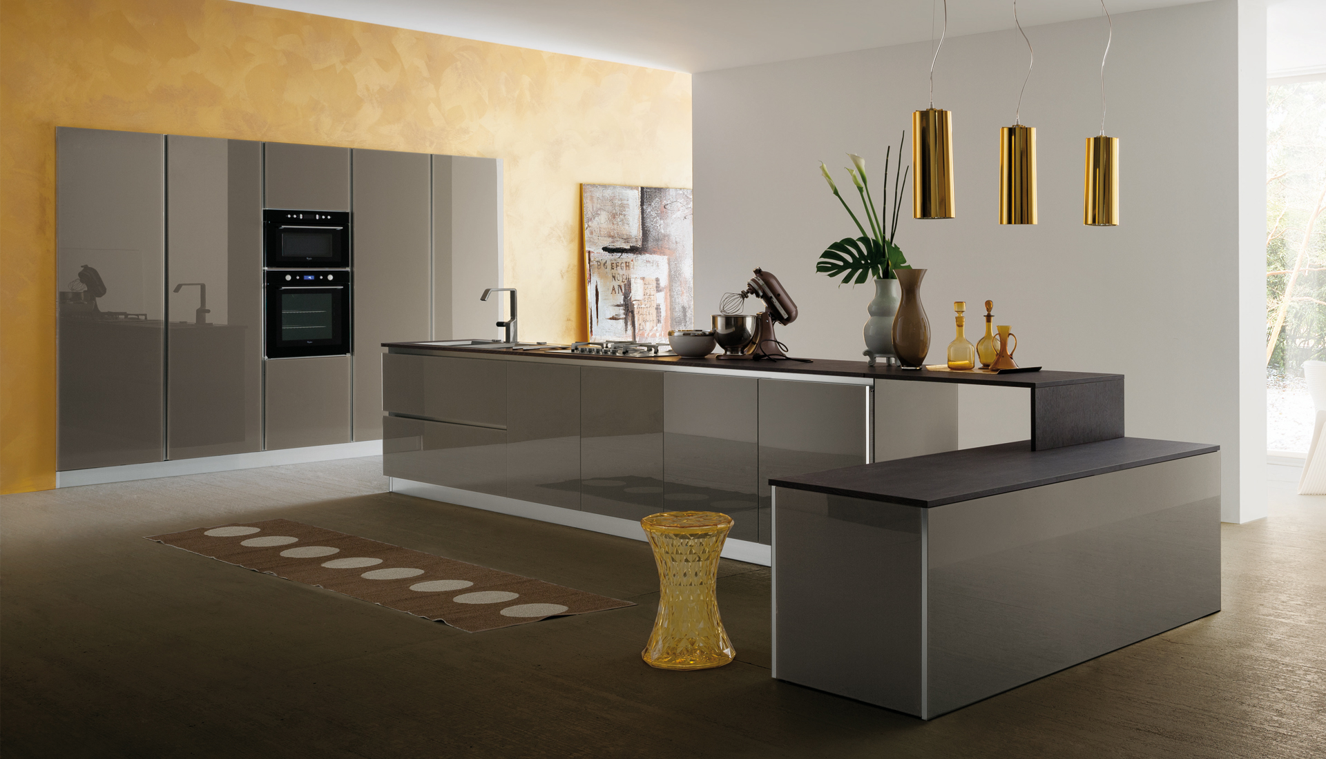 Cucina moderna MyGlass by Gicinque