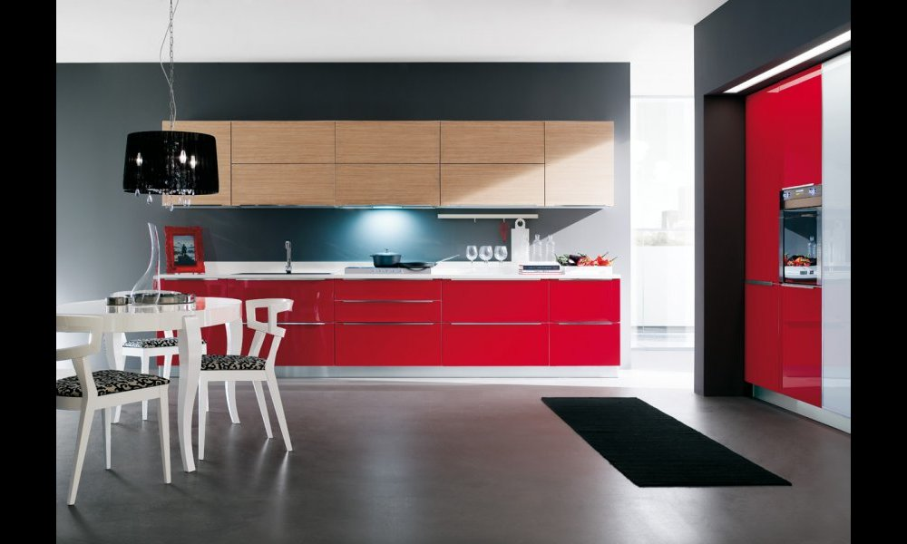 Beautiful Cucine Moderne Rosse Contemporary - Ideas & Design 2017 ...