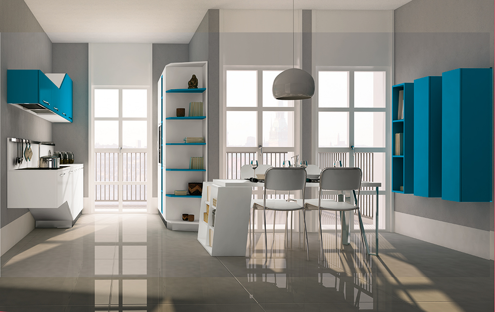 Cucine Moderne Per Ambienti Piccoli.Cucine Moderne Piccoli Spazi Affordable Mini Cucine Monoblocco A