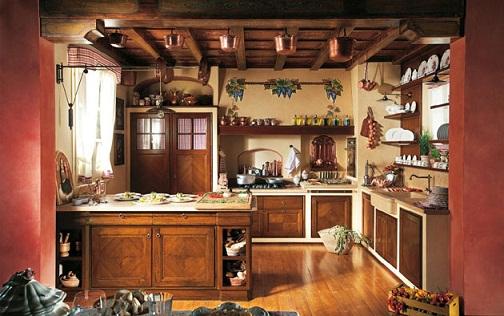 Arredare un rustico guida ai mobili in stile rustico - Tendine per cucina rustica ...